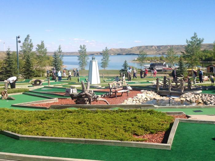 Par 50 Mini Golf Course designed for all ages. Nine holes handicap accessible.